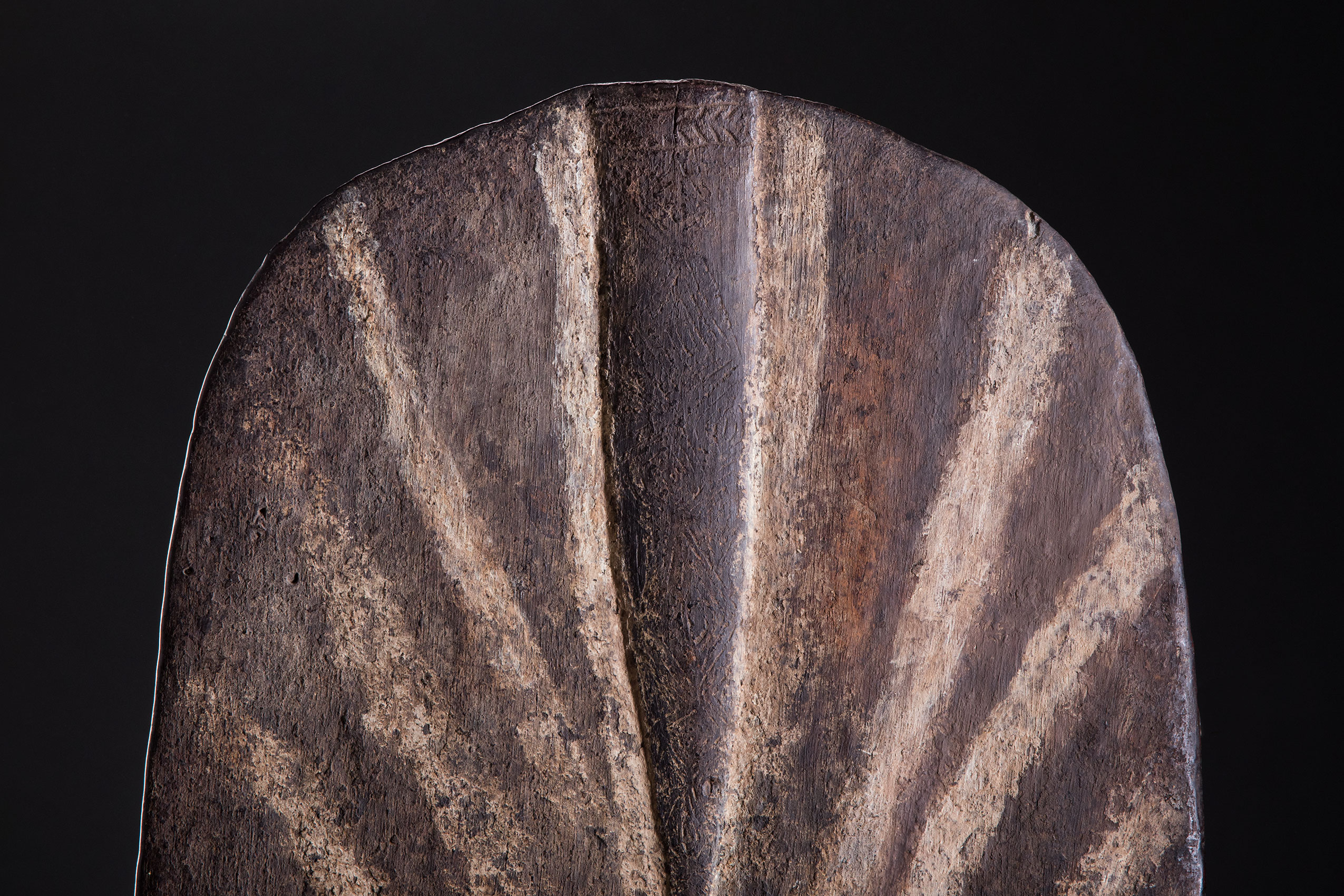 South Pacific art objects and artifacts | stone carved shield